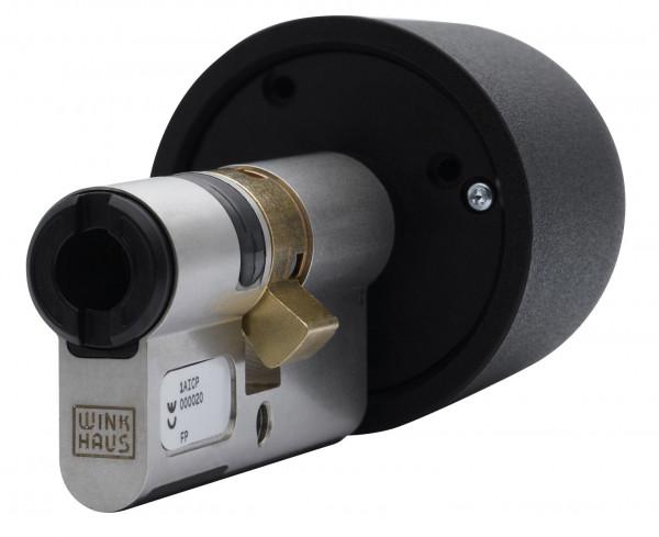blueCompact Profilknaufzylinder mit Batterie im Innenknauf (BO 04)