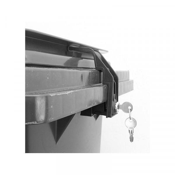 Mülltonnenverschluss 60 - 240 Liter Euro 2 Griffleistendeckel
